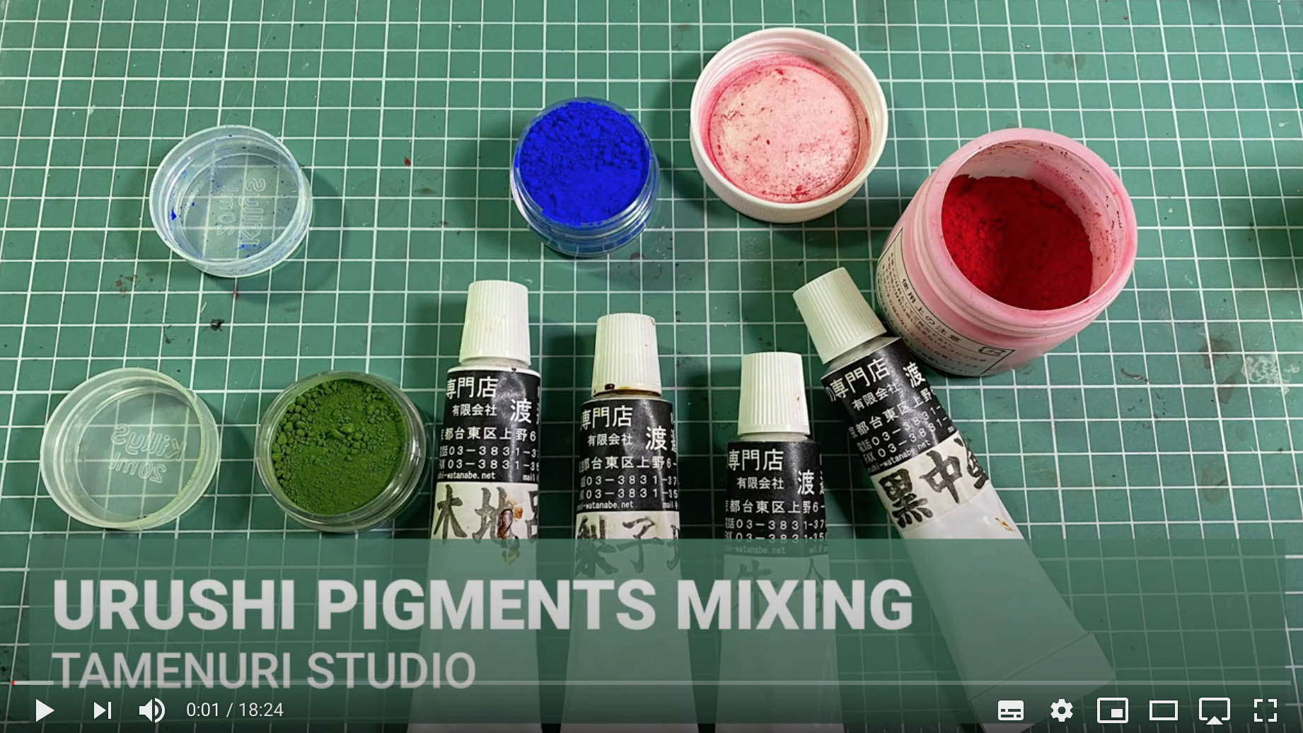 How to mix urushi with pigments?