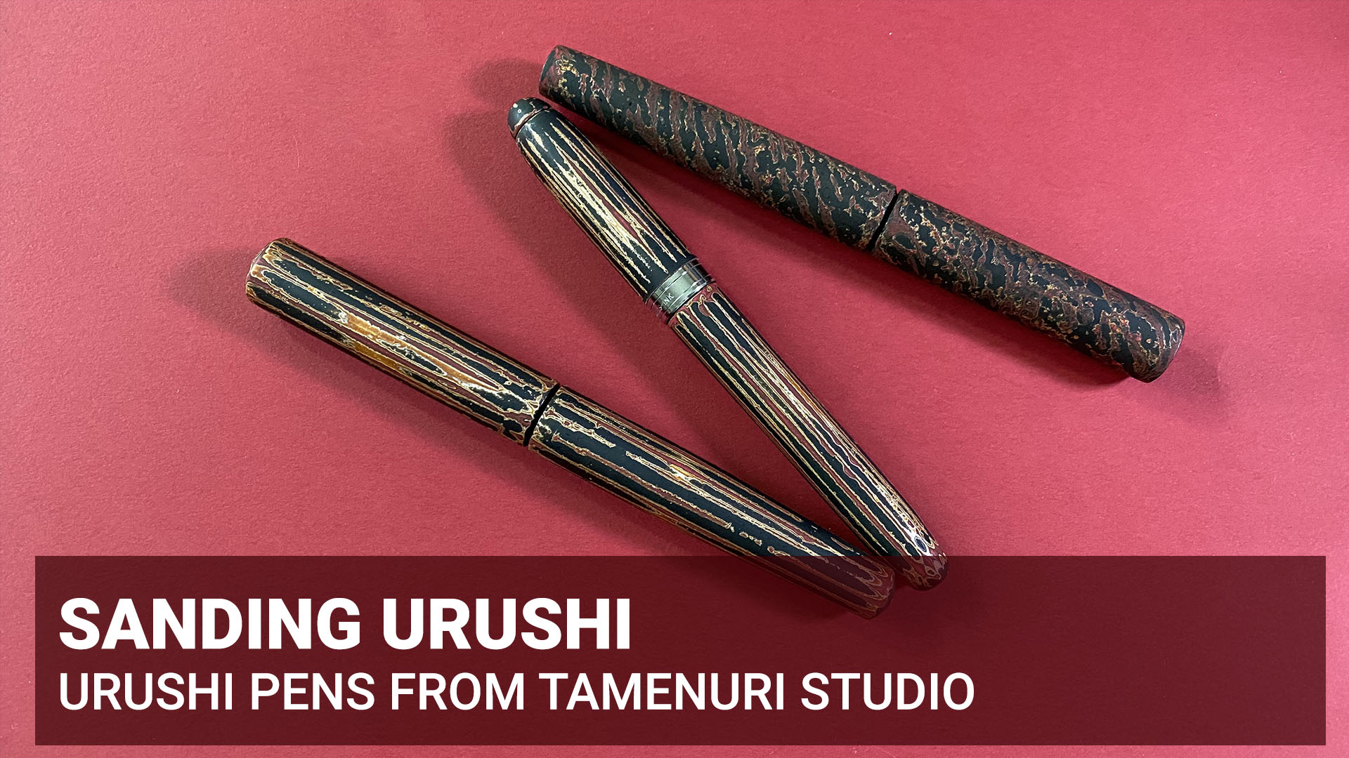 Sanding, sanding, sanding – majority of work with urushi